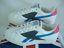 New Mens 11.5 REEBOK NPC UK FireFly White Blue Pink Leather Shoes Womens 13