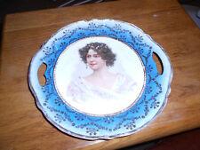 Royal Vienna Austria Portrait Plate Reticulated Handles
