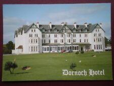 POSTCARD SUTHERLAND DORNOCH HOTEL OVERLOOKING THE ROYAL DORNOCH CHAMPIONSHIP GOL