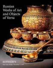 SOTHEBY'S RUSSIAN WORKS OF ART AND OBJECTS OF VERTU + FABERGE, + ICONS +