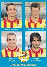 n°409 VIGNETTE PANINI CHAMPIONNAT DE FRANCE 1996 4 joueurs PERPIGNAN