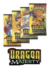 Pokemon TCG: Dragon Majesty 4 Booster Packs - All 4 Types - Brand New And Sealed