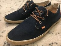 SUPERDRY UK Skipper Canvas Sneakers Kicks Low Top Mens 11 US Shoes B8