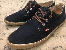 SUPERDRY UK Skipper Canvas Sneakers Kicks Low Top Mens 11 US Shoes B8