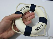 "1/6 Scale Blue Welcome Aboard Nautical Lifebuoy Ring for 12"" Action Figure Toys"
