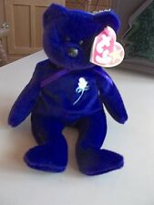 "Ty Beanie Baby Purple Bear ""Princess"" (Princess Di) 1997 Collectible Bear"