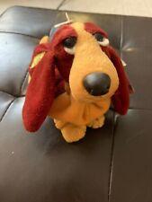 Hush Puppies CHANTILLY BASSETT HOUND Red Yellow Bean Bag STUFFED ANIMAL