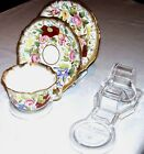 10 CUP,SAUCER & PLATE DISPLAY STANDS-AUSTRALIAN MADE- CLEAR
