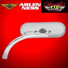 Arlen Ness Mirror Mini Oval Micro Chrome Left Side 13-406
