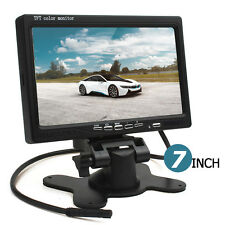 7Inch Color LCD HD 800 x 480 HDMI + VGA DVD VCR 2CH Auto Car Rear View Monitor