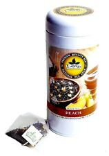 Leap Peach Flavor Black Tea, Pyramid 18 ct Pack of 2 units