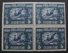 ICELAND #Facit,174 block of four MNH. 1930 Millenary of Parliament