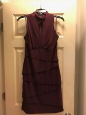 NWT White House Black Market Slimming Mock Neck Sheath Dress Size 8, color PORT