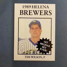 1989 Sports Pro HELENA Brewers #5 TIM WILSON Colfax IOWA