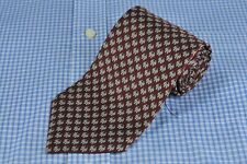 Brooks Basics Men's Tie Burgundy & Gray Penguins Silk Print Necktie 58 x 3.75