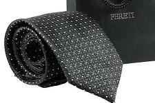 Corbata Diseñador Cuadros Rayas Negro Gris Blanco Lunares Topos Boda Fina
