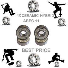 4 Precision Abec 11 hybrid ceramic bearings skate inline Skateboard scooter 9