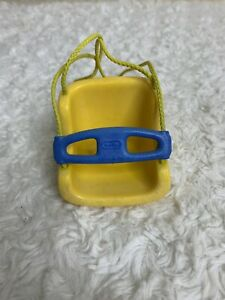 Little Tikes Toy Baby Swing Blue Roof House Vintage Dollhouse Size Accessory