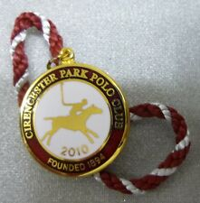 CIRENCESTER PARK POLO CLUB 2010 ENAMEL Badge with Cord