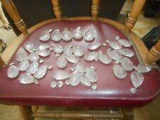 New listing Vintage Antique Glass Crystal Lamp Prisms 5 Larger 36 Medium Size Good Art Craft