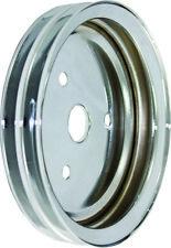 BLEMISHED SB Chevy Chrome Steel 2 Groove Short Pump Crank Pulley  383 327 350 V8