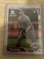 Mint 2019 Bowman Chrome Pete Alonso Rookie RC Refractor /499 New York Mets Topps