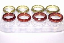 Clear silicone Multi-Ring mold. 8Pc. Faceted size 6.7.8.9 (pair each size) Z-99