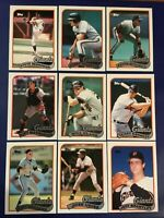 1989 Topps SAN FRANCISCO GIANTS Complete Team Set w Traded 33 CLARK Nice Look !