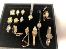 Lot of 14 Vintage Ladies Watches Elgin, Bulova, Hamilton, Wittnauer