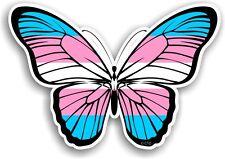 Beautiful Butterfly Design & LGBT Transgender Trans Flag Vinyl car sticker Decal