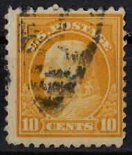US 1922 Scott #497 Benjamin Franklin 10 Cents Yellow STAMP