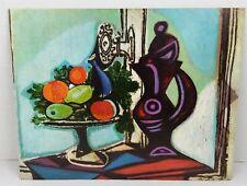 "Vtg 1960s Pablo Picasso Nature Morte Abstract Lithograph Print 11"" x 14"" P401"