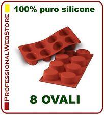 STAMPO SILICONE FORMA FORME STAMPI 8 OVALI CM 7,5x5,5 forma ovale formine dolci
