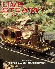 Live Steam V29 N 2 March/April 1995 Nick Wantiez' Aster Gauge 1 Grasshopper