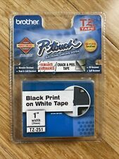 New Listinggenuine Oem Brother P Touch Tz 251 24mm 1 Black On White Label Tape