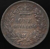 1865 Die 97 Victoria Silver One Shilling Coin | British Coins | Pennies2Pounds