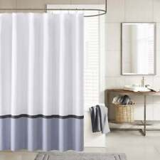 Ink+Ivy Hudson Chambray Shower Curtain 72x72 White/Blue
