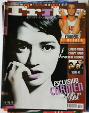 Carmen Consoli copertina TRIBE Gennaio 2003 OASIS EMINEM Sum 41 Linkin Park