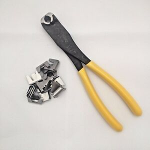 Cage making pliers strong heavy duty clip closing tool +50 clips by The TrapMan