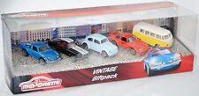 Majorette 212052013 Vintage Giftpack Renault / Ford / VW Beetle / Porsche / T1