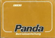 FIAT PANDA manuale di istruzioni 1989 manuale 141 manuale BA