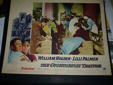THE COUNTERFEIT TRAITOR, orig 1962 LC #4 (William Holden, Lilli Palmer)