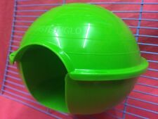 Hámster casa de plástico de 6 X 5 X4.5 pulgadas hámster jerbo ratón enano verde Clip en