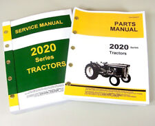 Service Manual Set For John Deere 2020 Tractor Parts Catalog Shop Repair Books