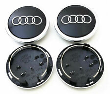 4 x 69mm Audi Schwarz Black Nabenkappen Felgendeckel Allufelgen Satz 4B0601170A
