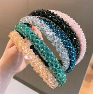 Women's Rhinestone Hairband Crystal Party Accessories Band Hair Headband Hoop