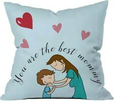 Heart Eyes Blue Cushion Cover Pillow Case Set Of 1 Pcs Home Décor Sofa Room