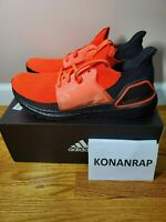 Adidas Ultra Boost 19 Solar Red Black Lifestyle[G27131] Men's Size 9.5 AUTHENTIC