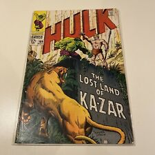New listing The Incredible Hulk #109 G/Vg Marvel Comic See Pictures