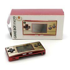 Game Boy Micro consola #famicom Happy mario 20th anniv. jap OVP dañado
